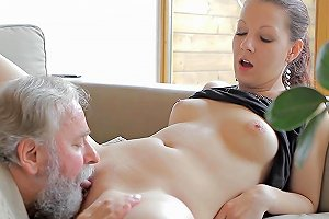 Ilona Is Fucking With Senior In Front Her Cuckold