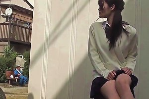 Asian Student Upskirt